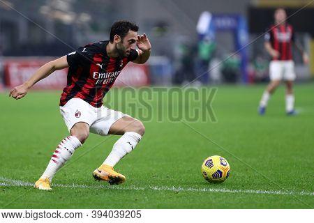 Milano, Italy. 08th November 2020. Hakan Calhanoglu  Of Ac Milan    During The  Serie A Match  Betwe