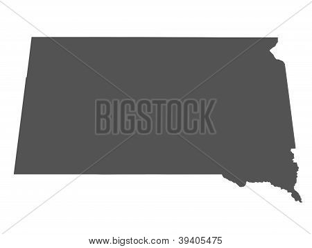 Map of South Dakota - USA - nonshaded