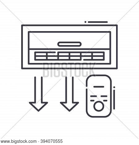 Air Conditioning Icon, Linear Isolated Illustration, Thin Line Vector, Web Design Sign, Outline Conc