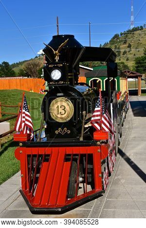 Rapid City, South Dakota, August 16, 2020: The Express #13 Provides Rides At  Storybook Island Which