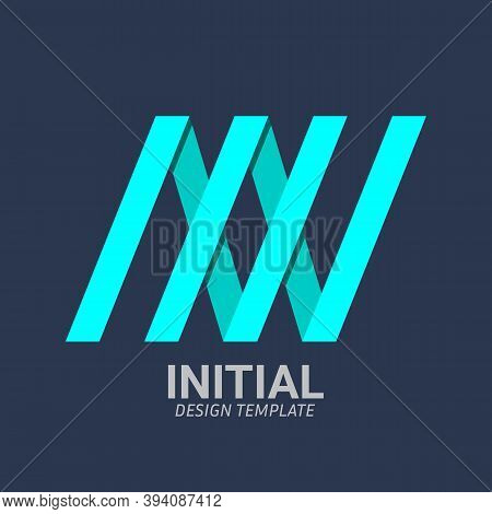 Initial Letter N, Nn, N & N Logo Icon Creative Design Template. Graphic Symbol For Corporate Busines