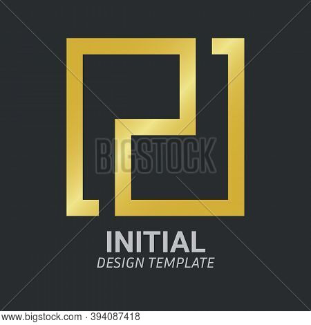 Initial Letter Pd, P & D Logo Icon Creative Design Template. Graphic Symbol For Corporate Business I