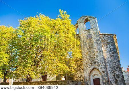 Beautiful Old Church In Ancient Town Of Roc In Istria, Croatia