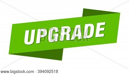 Upgrade Banner Template. Upgrade Ribbon Label Sign