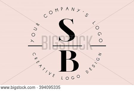 Letters Sb S B Logo Set As A Stamp Or Personal Signature. Simple Sb Icon With Circular Name Pattern.