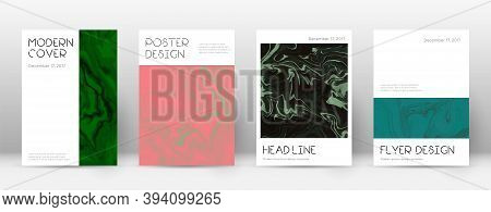 Abstract Cover. Nice Design Template. Suminagashi Marble Minimal Poster. Nice Trendy Abstract Cover.