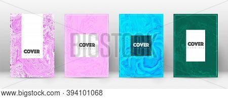 Abstract Cover. Impressive Design Template. Suminagashi Marble Hipster Poster. Impressive Trendy Abs