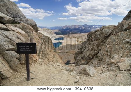 13200 foot Forester Pass entering Sequoia National Park on the John Muir Trail and the Pacific Crest Trail poster
