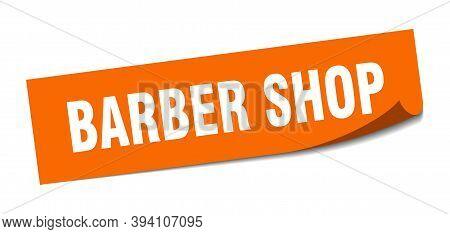 Barber Shop Sticker. Barber Shop Square Sign. Barber Shop. Peeler