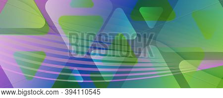 Fluid Geometric Abstract. Curve Gradient Shapes Movement. Colorful Business Banner. Modern Futuristi