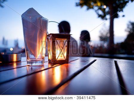Mediterranean Restaurant Table - Dinner table outdoors