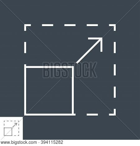 Resize Vector Icon. Thin Line Vector Illustration. Adjust Stroke Weight - Expand To Any Size - Easy