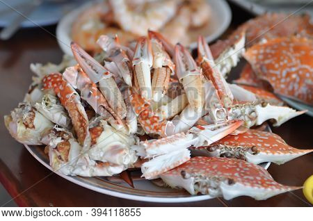 Streamed Crab , Crab Or Boiled Crab For Serve
