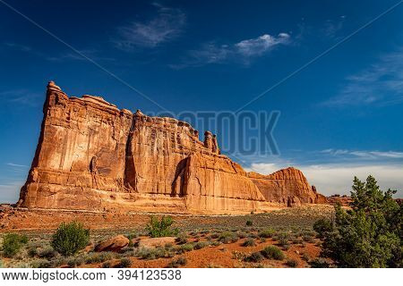 Canyons And Eroded Sandstone And Limestone Formations Dominate The Landscape At Arches National Park