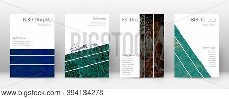 Abstract Cover. Unequaled Design Template. Suminagashi Marble Geometric Poster. Unequaled Trendy Abs