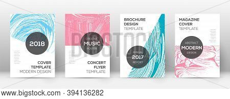 Cover Page Design Template. Modern Brochure Layout. Comely Trendy Abstract Cover Page. Pink And Blue
