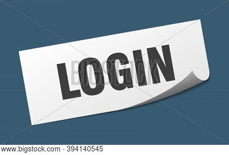 Login Sticker. Login Square Isolated Sign. Login