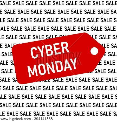 Cyber Monday Banner. Vector Illustration Of Cyber Monday Text