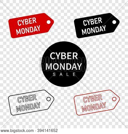 Cyber Monday Banner Design. Cyber Monday Banner Set
