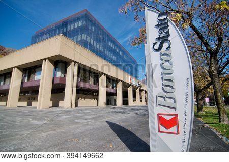 Bellinzona, Switzerland - 31st October 2020 : Bancastato Bank Or Banca Dello Stato Del Cantone Ticin