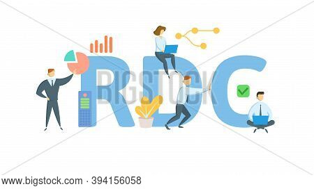 Rdc, Running Down Clause. Concept With Keywords, People And Icons. Flat Vector Illustration. Isolate