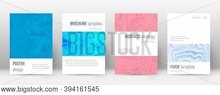 Abstract Cover. Exceptional Design Template. Suminagashi Marble Minimalistic Poster. Exceptional Tre