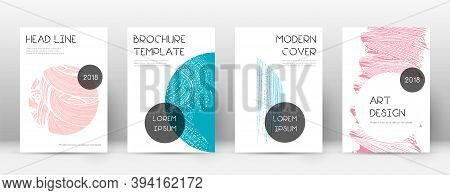 Cover Page Design Template. Trendy Brochure Layout. Classic Trendy Abstract Cover Page. Pink And Blu