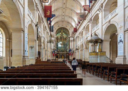 Paris, France - August 29, 2019 : Saint Louis Des Invalides Chapel Interior In Paris. It Is The The