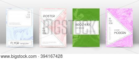 Abstract Cover. Tempting Design Template. Suminagashi Marble Stylish Poster. Tempting Trendy Abstrac