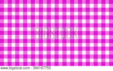 Bright Pink White Magenta Checkered Background. Space For Graphic Design And Creative Ideas. Checker