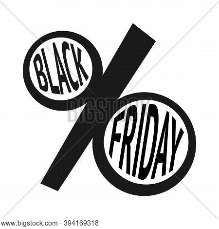 Black Friday Sale Text Inside Abstract Percent Sign
