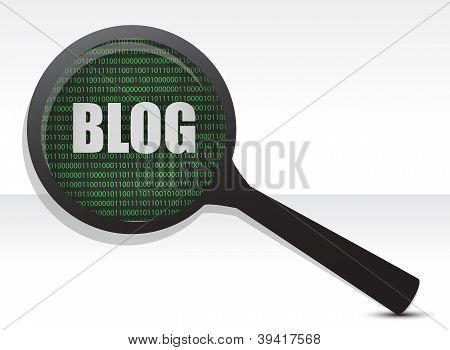 Blog Binary Magnifier Concept