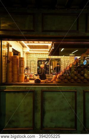 Seoul,south Korea-september 2020: Chinese Dimsum Restaurant View From The Window