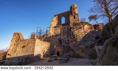 Oybin Castle And Monastery In Saxony, Germany