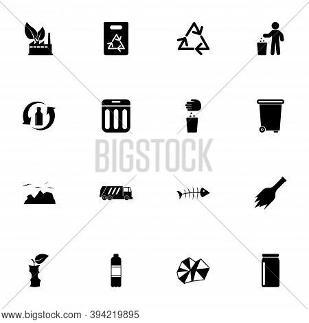Garbage Icon - Expand To Any Size - Change To Any Colour. Perfect Flat Vector Contains Such Icons As
