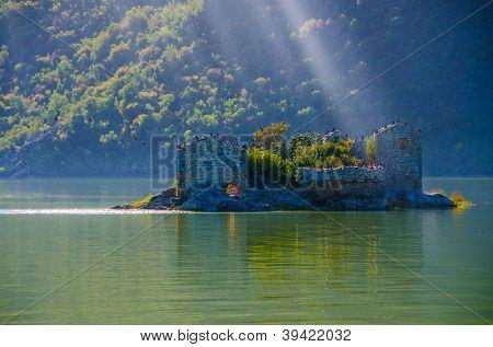 Grmozur fortress, Lake Skadar, Montenegro, Europe poster