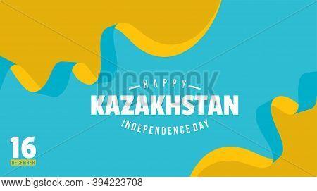 Kazakhstan Independence Day Background Design With Kazakhstan Flag Color. Good Template For Kazakhst
