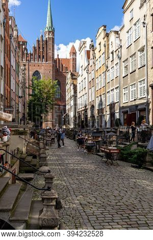 Gdansk, Poland - Sept 6, 2020: Mariacka Street, The Main Shopping Street For The Amber And Jewelry I