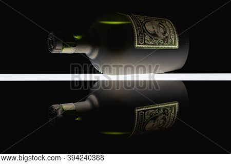 Prague, Czech Republic - 26 May,2020: Bottle Of Diplomatico Rum Isolated On Black Background. The Hi