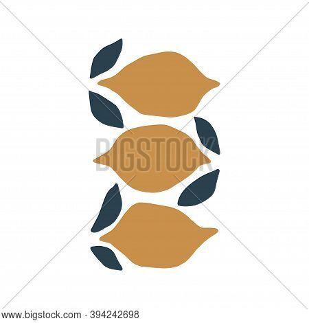 Fruit Hand Drawn Vector Illustration. Ripe Lemon, Juicy Organic Citron Drawing Isolated On White Bac