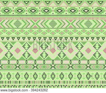 Peruvian American Indian Pattern Tribal Ethnic Motifs Geometric Vector Background. Graphic Native Am