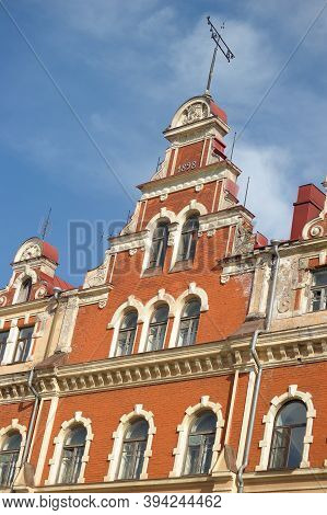Russia. Vyborg, 08,05,2011 Facade Of The Old Townhall In Vyborg,