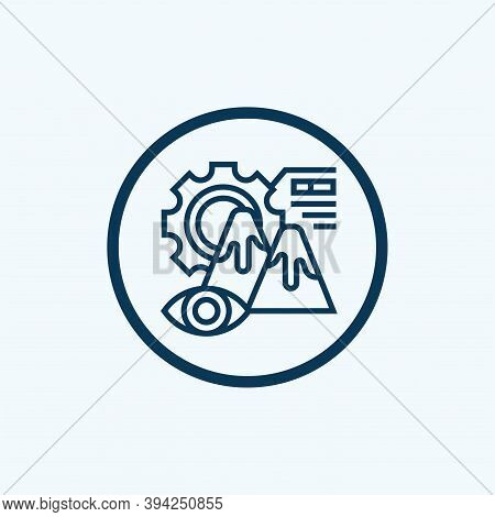 Focus Icon Isolated On White Background From Data Analysis Collection. Focus Icon Trendy And Modern