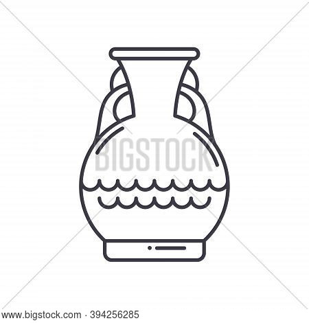 Artifact Vase Icon, Linear Isolated Illustration, Thin Line Vector, Web Design Sign, Outline Concept