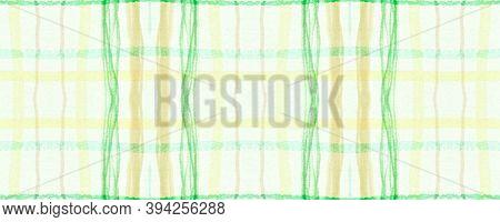 Yellow Fall Plaid Pattern. Seamless Picnic Fabric. Textured Cloth. Vintage English Textile. Plaid Pa
