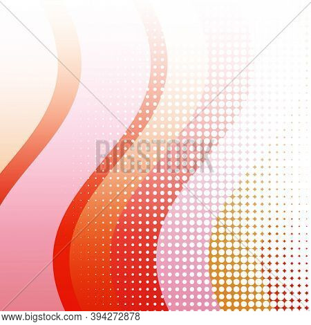 Abstract Background fluid red graphic. Red pink abstract curves with halftone dots Suitable for template. background, brochure background, presentation or landing page abstract background. Red abstract background