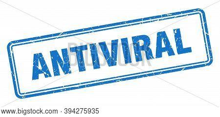 Antiviral Stamp. Square Grunge Sign On White Background