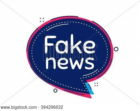 Fake News Symbol. Thought Bubble Vector Banner. Media Newspaper Sign. Daily Information. Dialogue Or