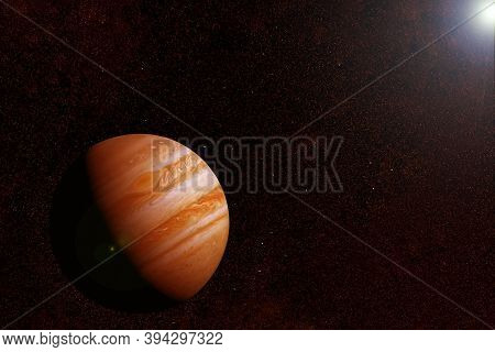 Planet Jupiter In Fantastic Colors. Elements Of This Image Furnished By Nasa