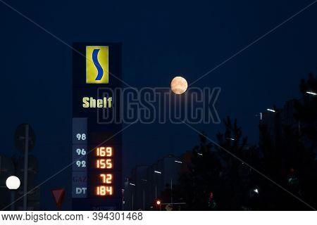 Kazakhstan, Petropavlovsk August 30, 2020: Gas Station